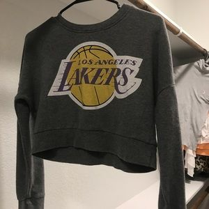 Lakers cropped tee
